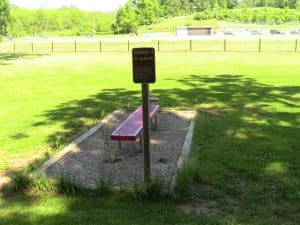 Exercise station next to walking trails