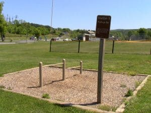 Fitness station next to Walking Trails