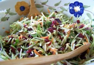 How To Quickly Make A Colorful Salad with Broccoli Slaw