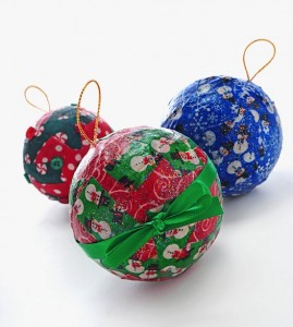 Mod Podge Fabric Ornaments