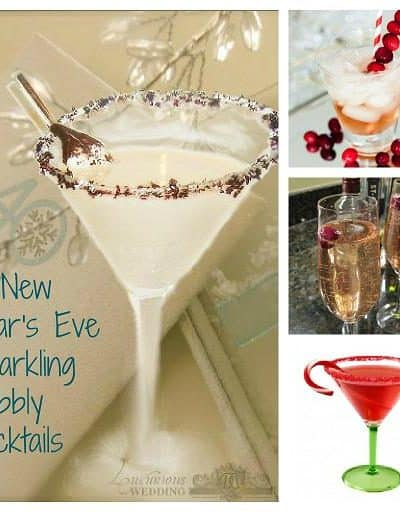 New Year's Eve Sparkling Bubbly Cocktails