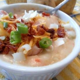 The Best Potato Soup with Ham Recipe