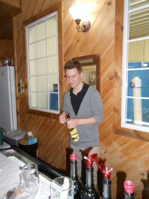 Wine tasting at Linganore Winecellars