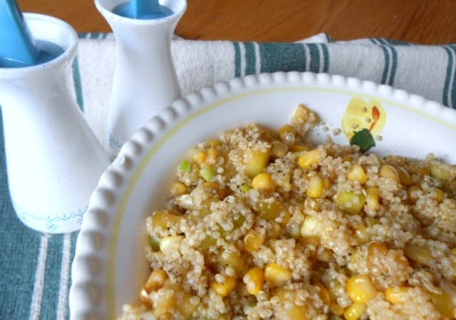 Quinoa, Zucchini and Corn in Lemon Butter Recipe – 3 Weight Watchers Points Plus