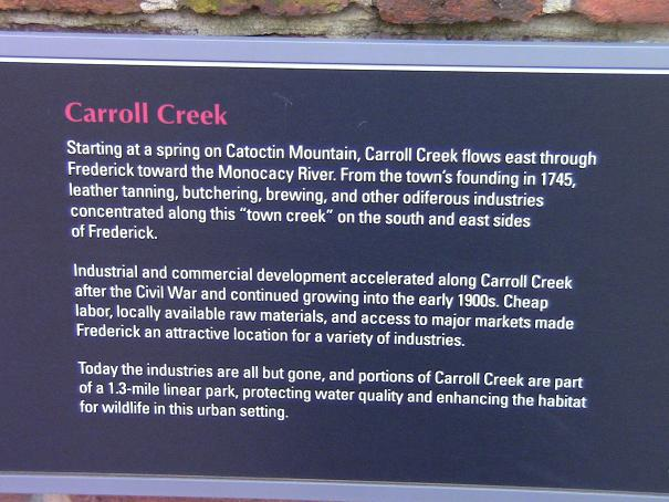 Carroll Creek Frederick Md
