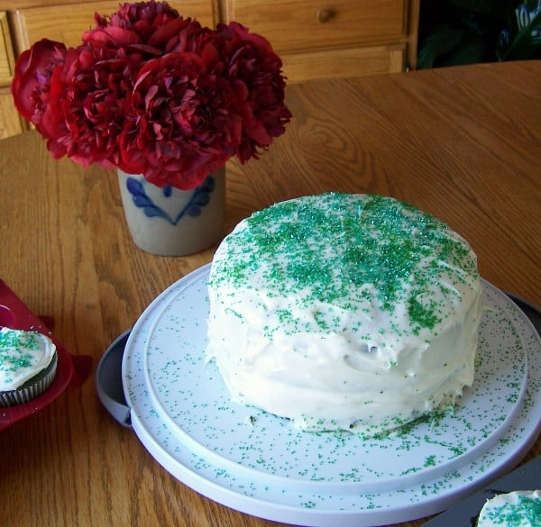 St. Patrick's Day Green Velvet Cake - Irish Eyes Smiling