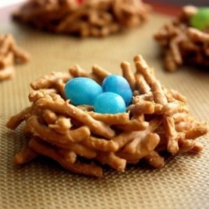 Easter nest cookies pic