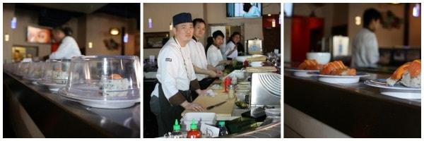 sushi densha collage