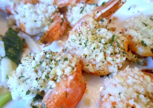 Lemon and Garlic-Crumb Shrimp – 5 Weight Watchers Points Plus Value