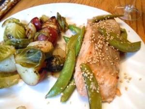 Sesame Salmon & Snap Peas - 7 Weight Watchers Points Plus Value