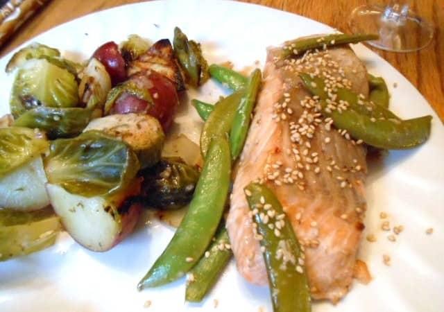 Sesame Salmon & Snap Peas – 7 Weight Watchers Points Plus Value