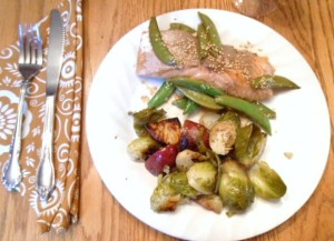 Sesame Salmon & Snap Peas - 7 Weight Watchers Points Plus Value