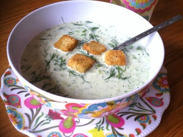 Chilled Cucumber Soup – 3 Weight Watchers Points Plus Value