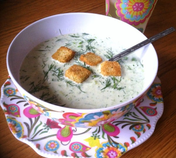 Chilled Cucumber Soup - 3 Weight Watchers Points Plus Value