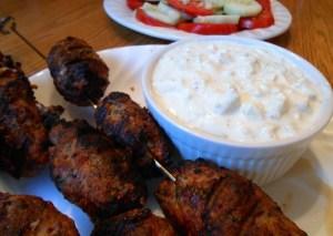 Middle Eastern Turkey Kebabs & Cucumber Yogurt Dip - 6 Weight Watchers Points Plus Value