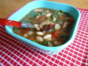 Sausage and Chard Soup - 8 Weight Watchers Points Plus Value