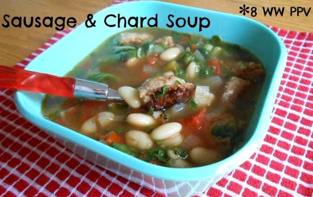 Sausage and Chard Soup – 8 Weight Watchers Points Plus Value