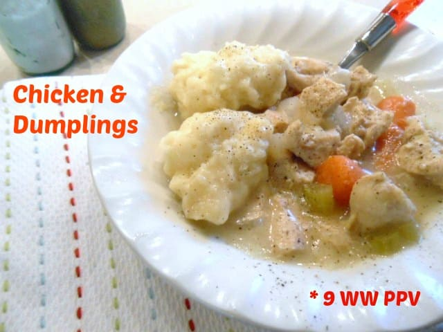 Simple Chicken & Dumplings - 9 Weight Watchers Points Plus Value