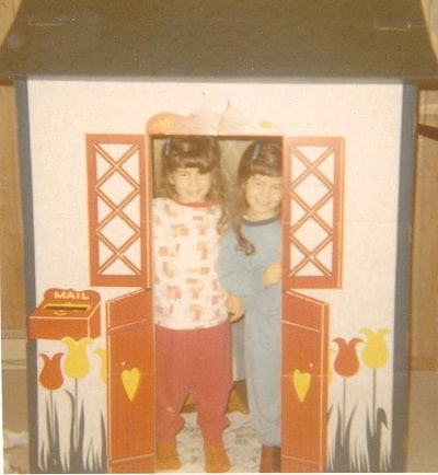 pic of pam and i in playhouse