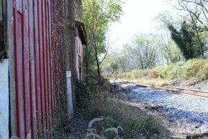 Railroad tracks in Adamstown Md
