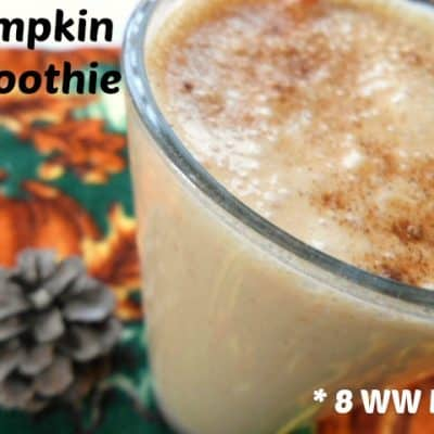 Pumpkin Smoothie - 8 Weight Watchers Points Plus Value