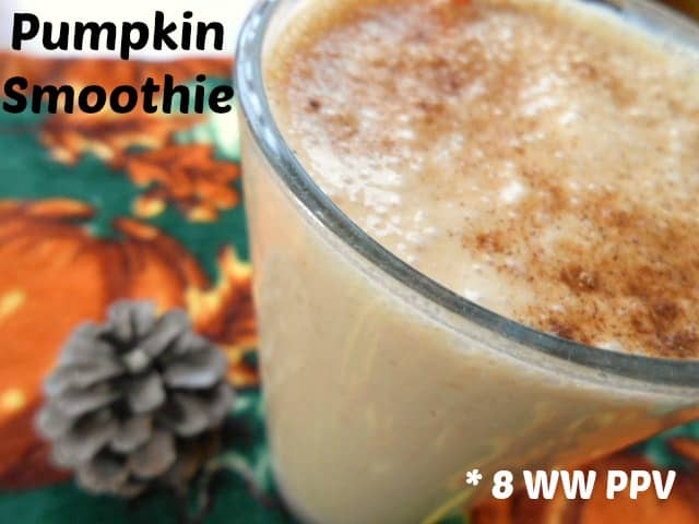 Pumpkin Smoothie - 8 Weight Watchers Points Plus Value