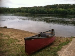 boat by river pic