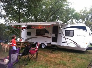 Our new camper at Brunswick Family Campground