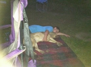 sean laying with stella pic