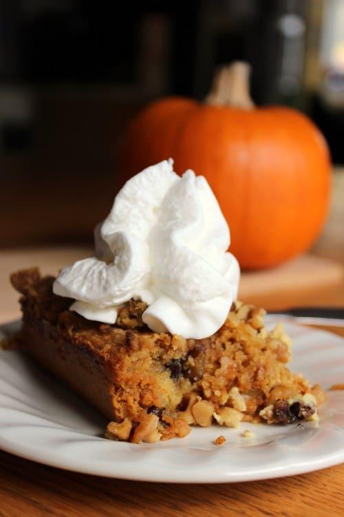 Pumpkin Dessert With Cake Mix Top