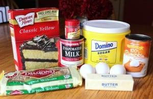 Dessert ingredients
