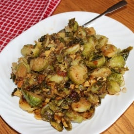 Mustard Glazed Brussels Sprouts with Chestnuts - 4 Weight Watchers Points Plus Value