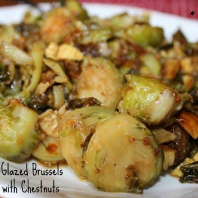 Mustard-Glazed Brussels Sprouts with Chestnuts - 4 Weight Watchers Points Plus Value