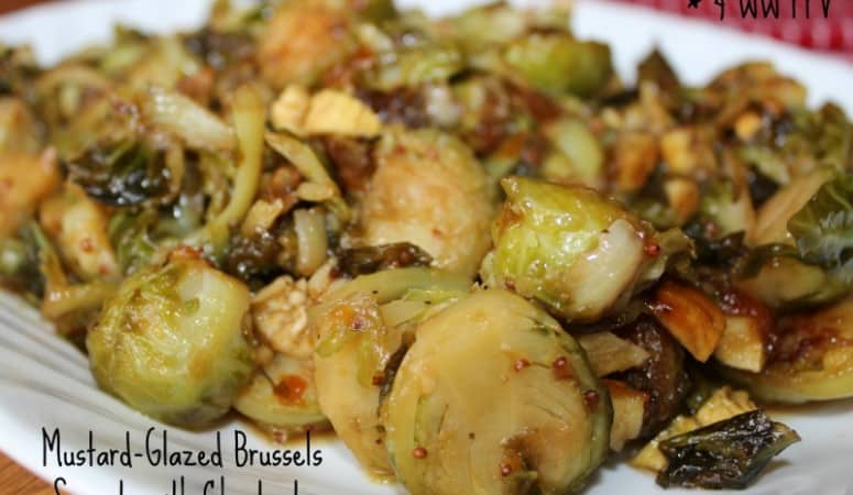 Mustard-Glazed Brussels Sprouts with Chestnuts – 4 Weight Watchers Points Plus Value