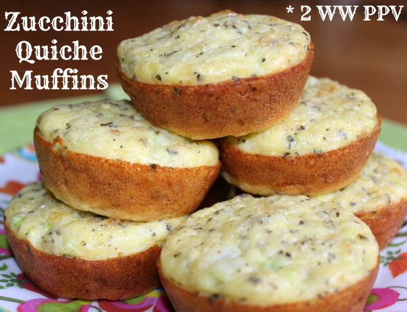 Zucchini Quiche Muffins - 2 Weight Watchers Points Plus Value