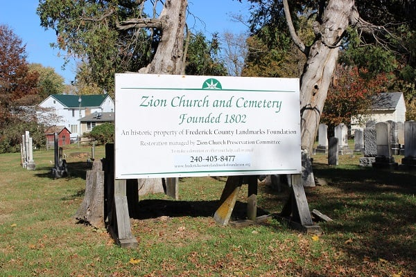 Zion Church & Cemetery Urbana Md