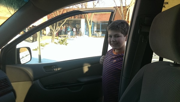 Sitting in the Car Pick-up Line