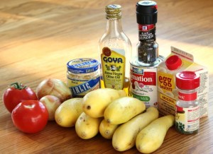 Squash & Tomato Cassoulet Ingredients