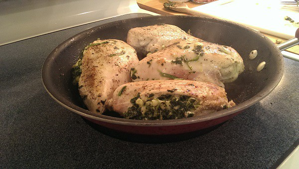 Spicy Spinach and Corn Stuffed Chicken Breasts
