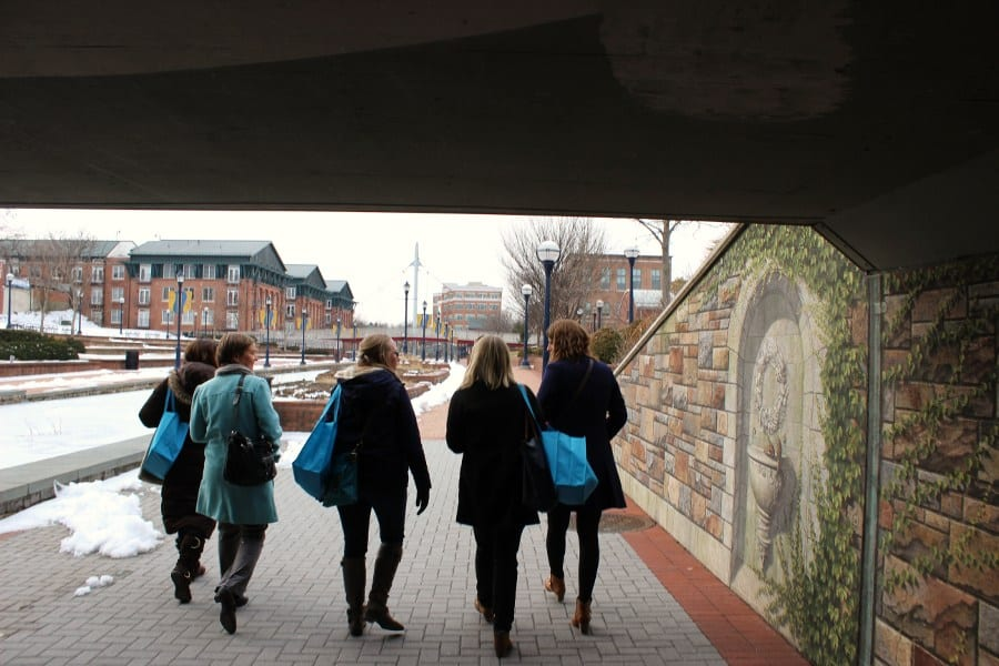 Walking to our first restaurant for Frederick Restaurant Week