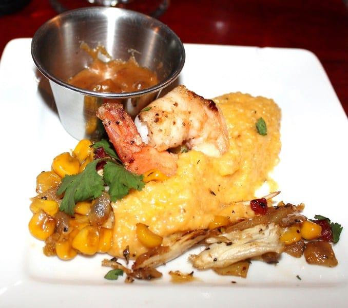 Shrimp Satay with Corn Relish Frederick Restaurant Week