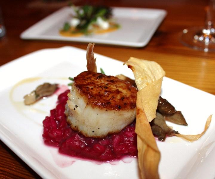 The Wine Kitchen scallop dish