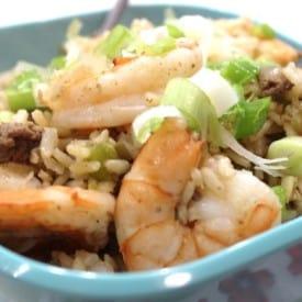 Dirty Rice Recipe with Shrimp Zero WW SmartPoints