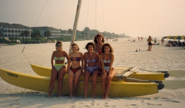 Back in the late 80's - Pam, some friends and me!