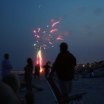 Fireworks on the beach!