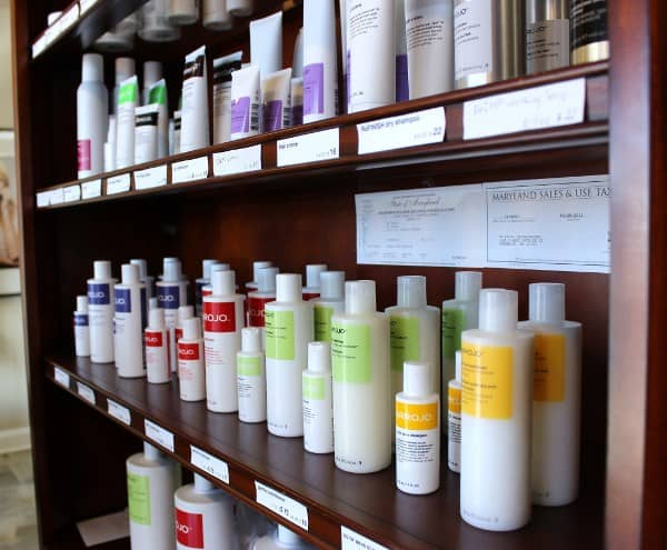 Hair salon product line