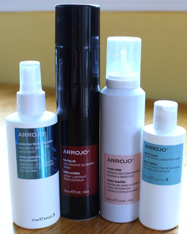 My aresenal of Arrojo hair products