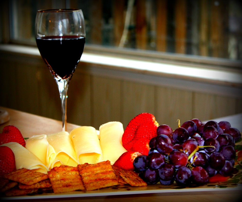 wine and platter pic