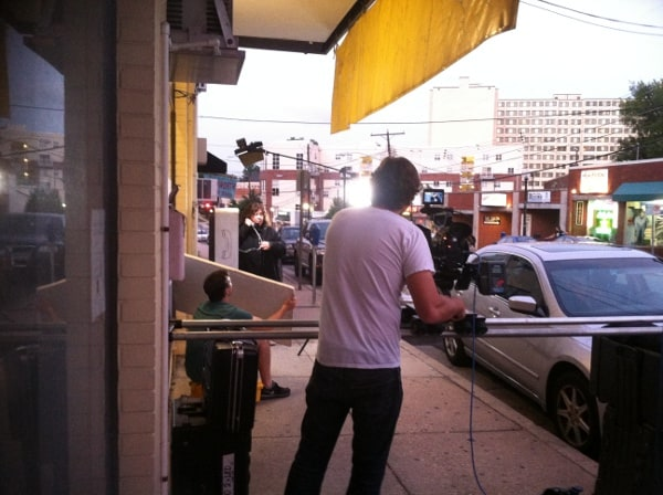 Terri doing her scene at the payphone on the streets of Silver Spring