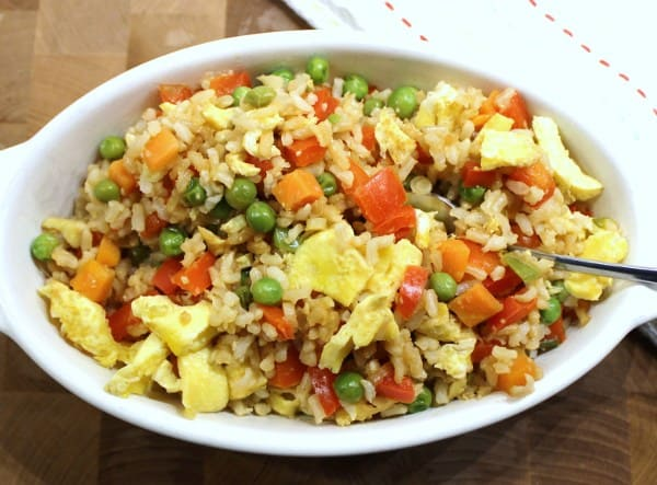 Healthy Vegetable Fried Rice - 3 Weight Watchers Points Plus Value